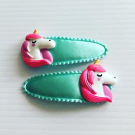 Haarspeldjes unicorn ?mint