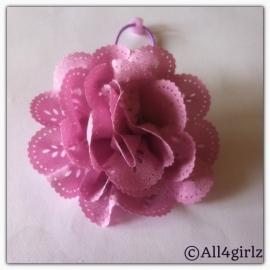 Haar elastiekje met bloem
