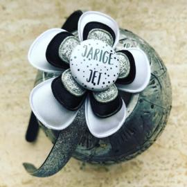 Diadeem Jarige Jet wit/zilver/zwart