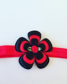 Haarbandje:Rood/Zwart..