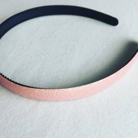 Glitter diadeem licht roze