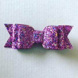 Haarstrik glitter lila