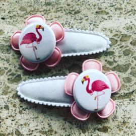 Haarspeldjes flamingo