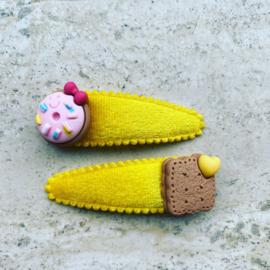 Haarspeldjes met donut&koekje