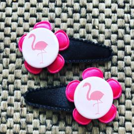 Haarspeldjes Flamingo roze