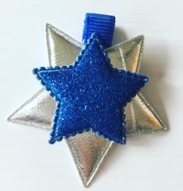 Glinsterende sterren clip(Royal blue)