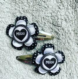 Haarspeldjes met naam/cijfer (milou)