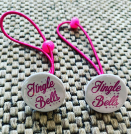 Haarelastiekjes Jingle Bells (Roze/Wit)