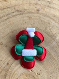 Haarlokspeldje kerst rood/groen