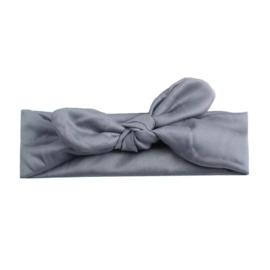 Knoop haarbandje Donker :grijs