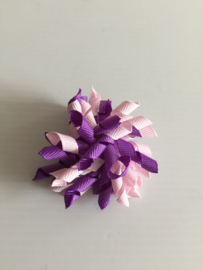 Mini Krullie paars/licht roze