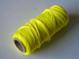 Uitzetdraad polyerster gevlochten 50 meter fluor 1.0 mm. geel