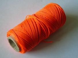 Uitzetdraad polyerster gevlochten 50 meter fluor 1.0 mm. oranje