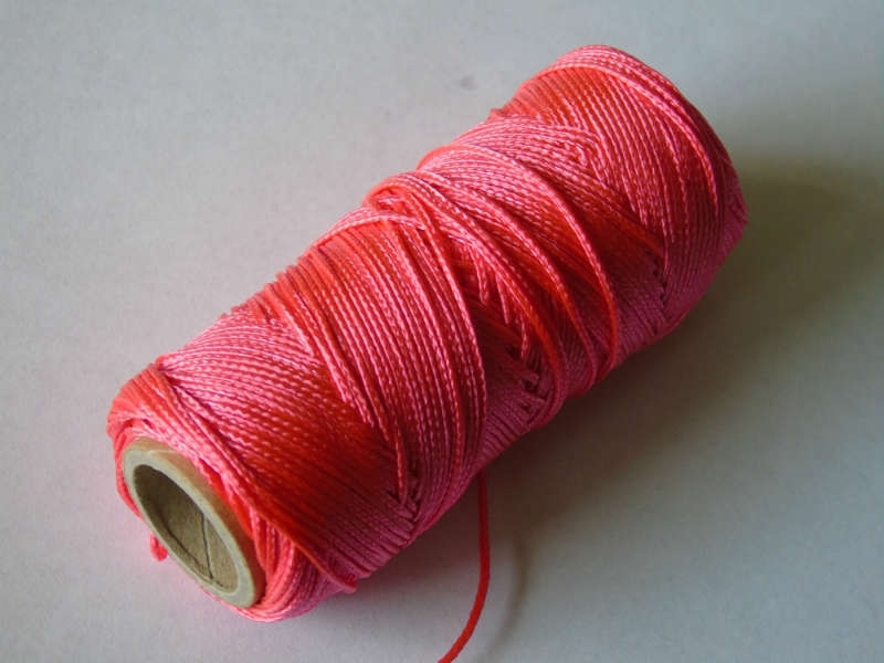 Uitzetkoord polyerster gevlochten 50 meter fluor 1.5 mm. rose