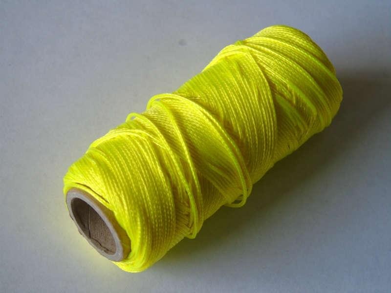 Uitzetkoord polyerster gevlochten 50 meter fluor 1.5 mm. geel
