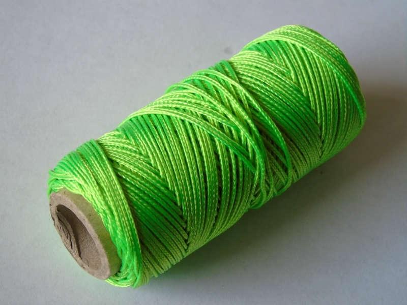 Uitzetkoord polyerster gevlochten 50 meter fluor 1.5 mm. groen