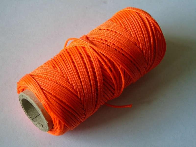 Uitzetkoord polyerster gevlochten 50 meter fluor 2 mm. oranje