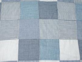 Patchwork blauw