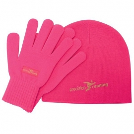 Precision Sports Beanie en Handschoenen Set (roze, zwart of geel)