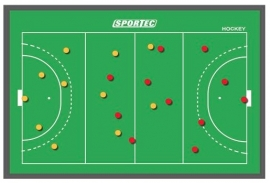 Sportec Magnetisch Coachbord Hockey (3 maten)