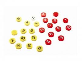 Magneten genummerd