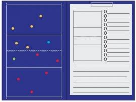 Sportec Coachmap volleybal magnetisch met clip en schrijfblok