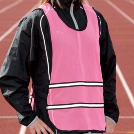 Precision Sports Reflecterend Hesje (geel en roze)