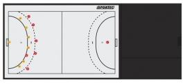 Sportec Coachmap Deluxe handbal magnetisch