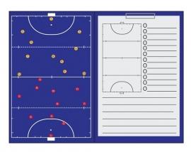 Sportec Coachmap hockey magnetisch met clip en schrijfblok