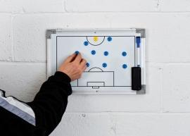 Tactiekbord voetbal dubbelzijdig (30cm x 45cm)