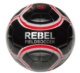 Rebel fieldsoccer bal zwart/rood