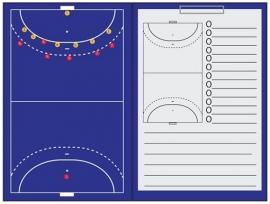 Zaalvoetbal Sportec Coachmap magnetisch met clip en schrijfblok