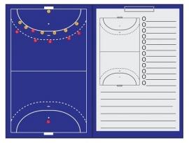 Zaalhockey Sportec Coachmap magnetisch met clip en schrijfblok