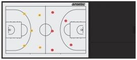 Sportec Coachmap Deluxe basketbal magnetisch