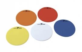 Markeerschijf plat rond meerdere kleuren (10 stuks)