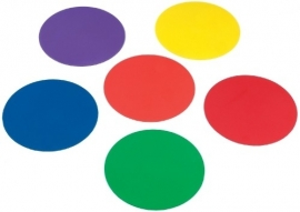Markeerschijf plat rond meerdere kleuren (6 stuks)