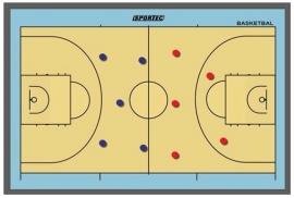 Sportec Magnetisch Coachbord Basketbal (3 maten)
