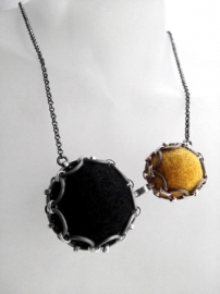 Ketting -  Black/Mustard Yellow