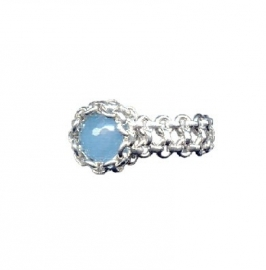 Ring glamour Chalcedoon