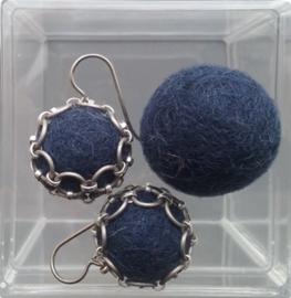 Oorbellen -  dark blue