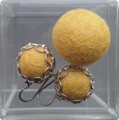 Oorbellen - mustard yellow