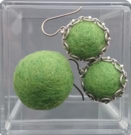 oorbellen - greenery