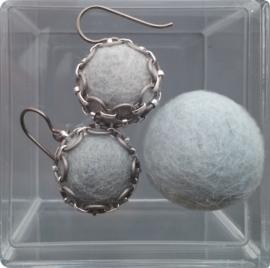 Oorbellen -  grey