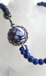 Ketting/Collier - Blauw Geluk