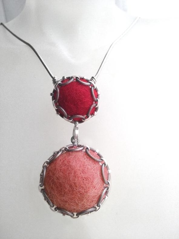 Ketting -  reddish en dusky pink