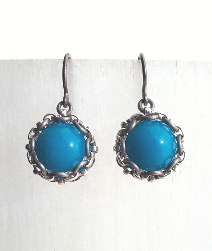 Oorbellen - Bright Blauw