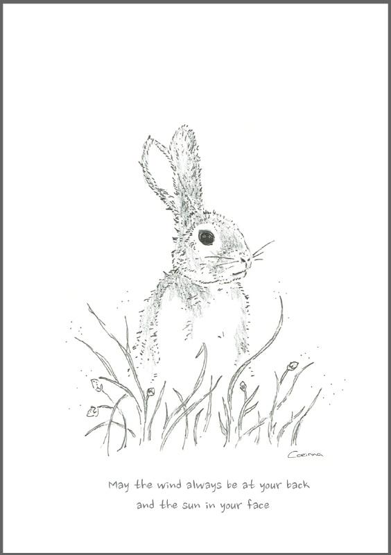 Feather Wenskaart: Rabbit