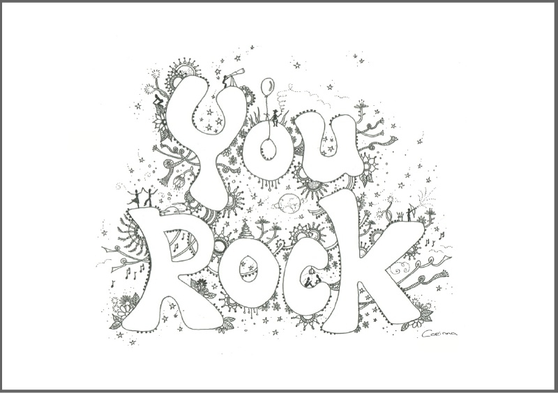 Feather Wenskaart: You Rock