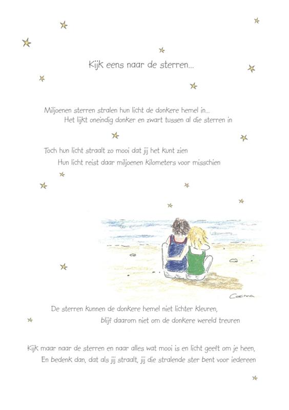Wenskaart 'Kijk eens naar de sterren'