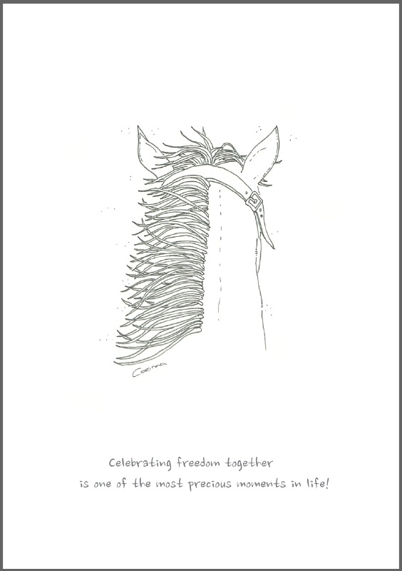 Feather Wenskaart: Celebrating freedom together
